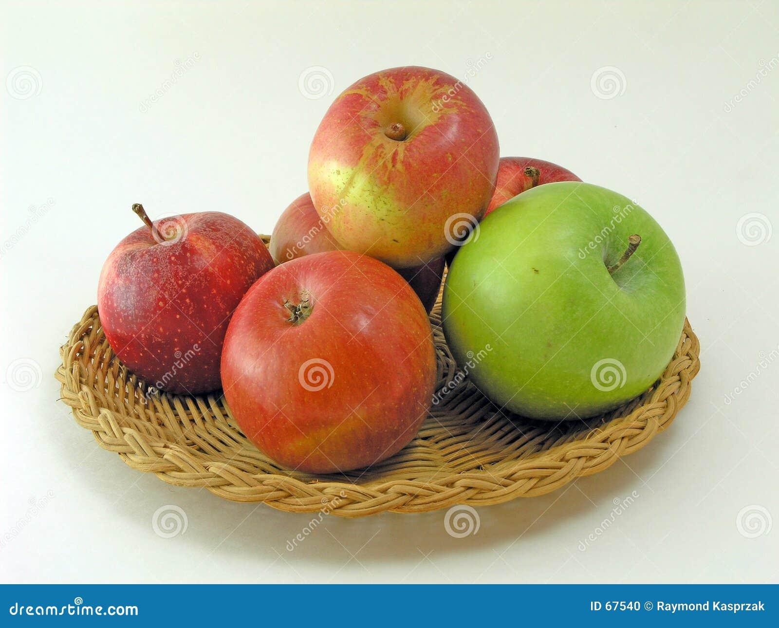 Bandeja de maçãs