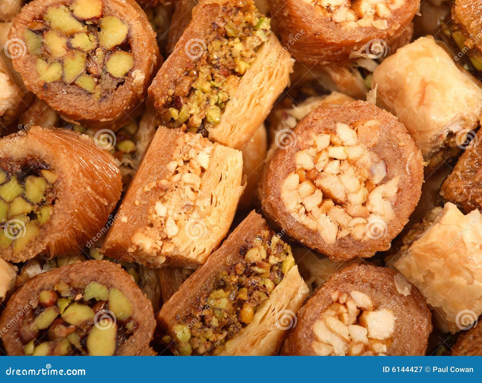 Bandeja de pasteles árabes