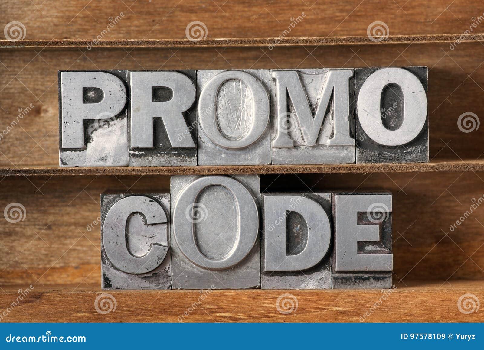 Bandeja del código del promo