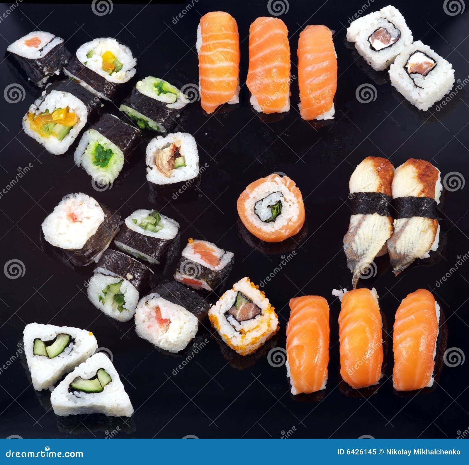 Bandeja do sushi imagem de stock imagem de sia jap o 6426145 - Bandejas para sushi ...