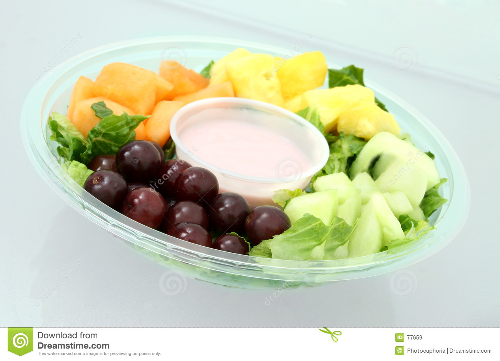Bandeja e Yogurt da fruta