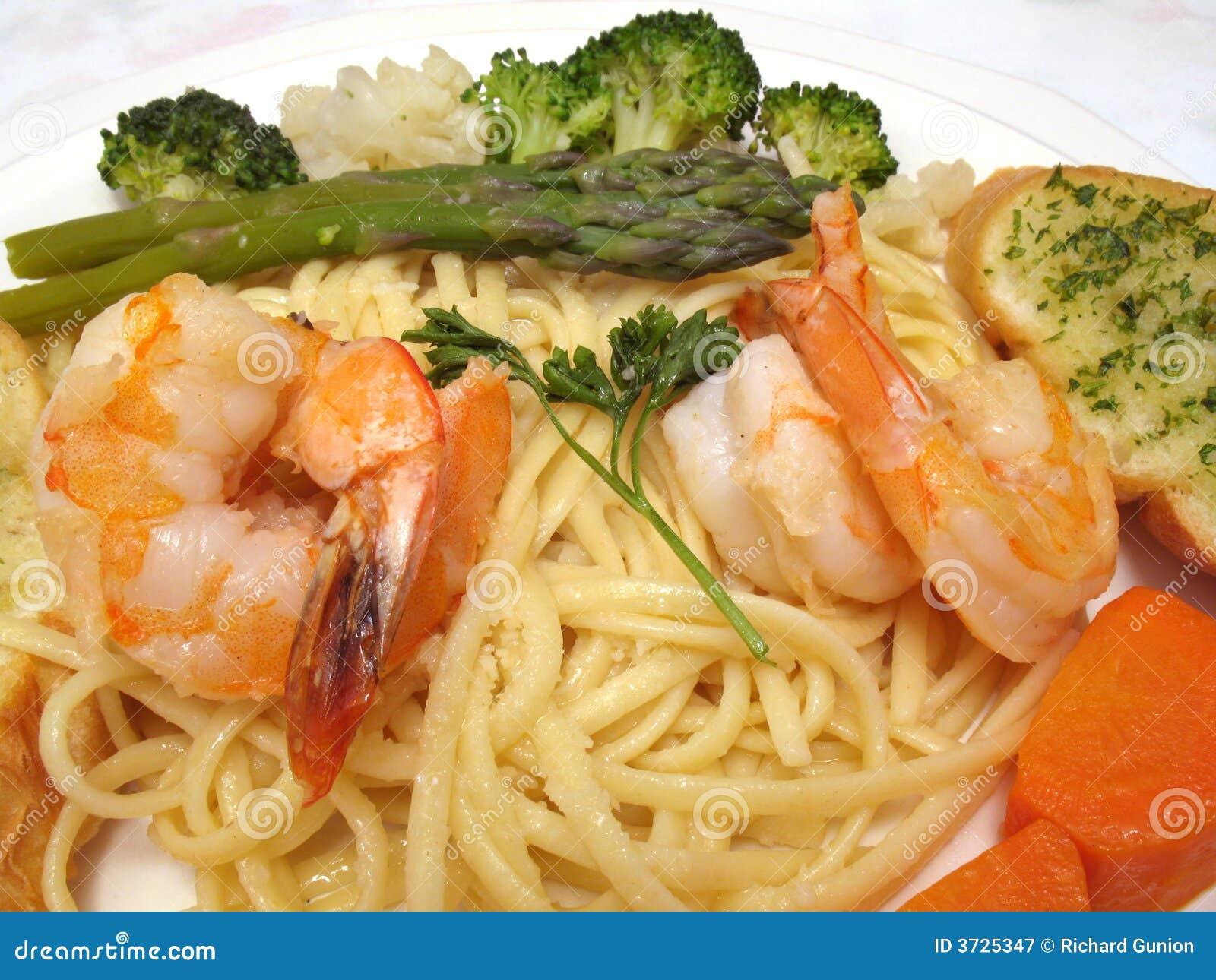 Bandeja italiana do camarão