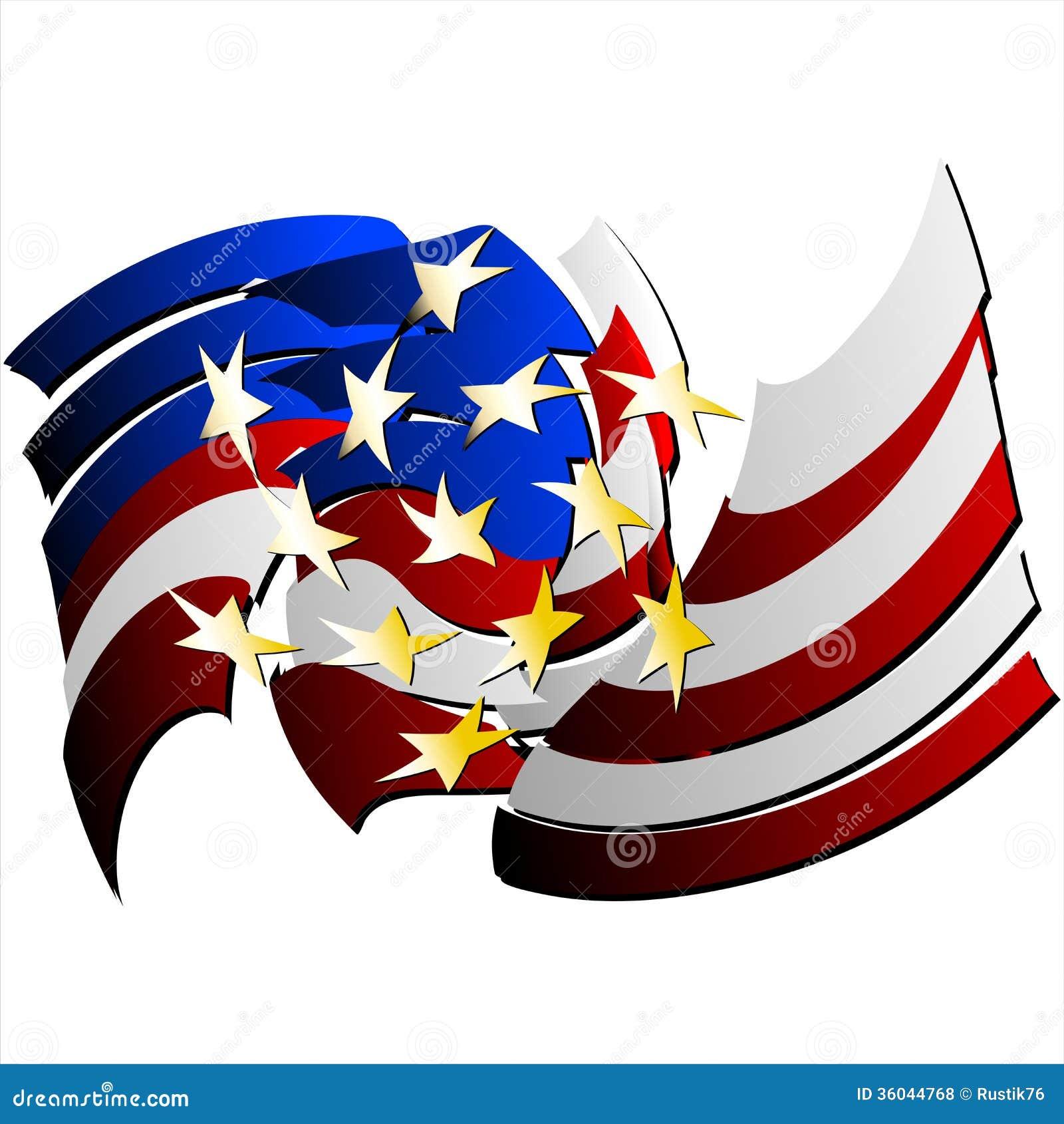 Bandera Abstracta Estados Unidos. (Vector) Ilustración del Vector ...