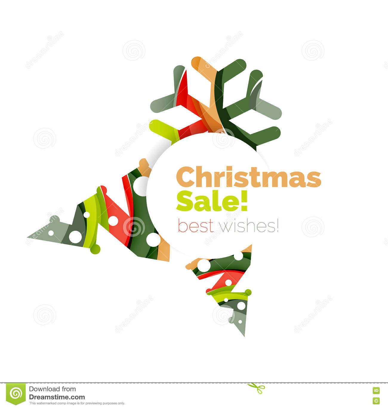 Bandera abstracta geométrica del promo de la venta de la Navidad