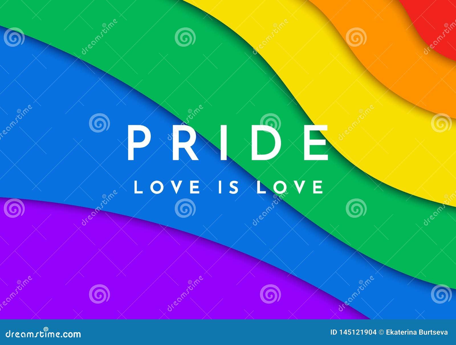 Bandera alegre del orgullo Bandera cortada de papel del espectro del arco iris