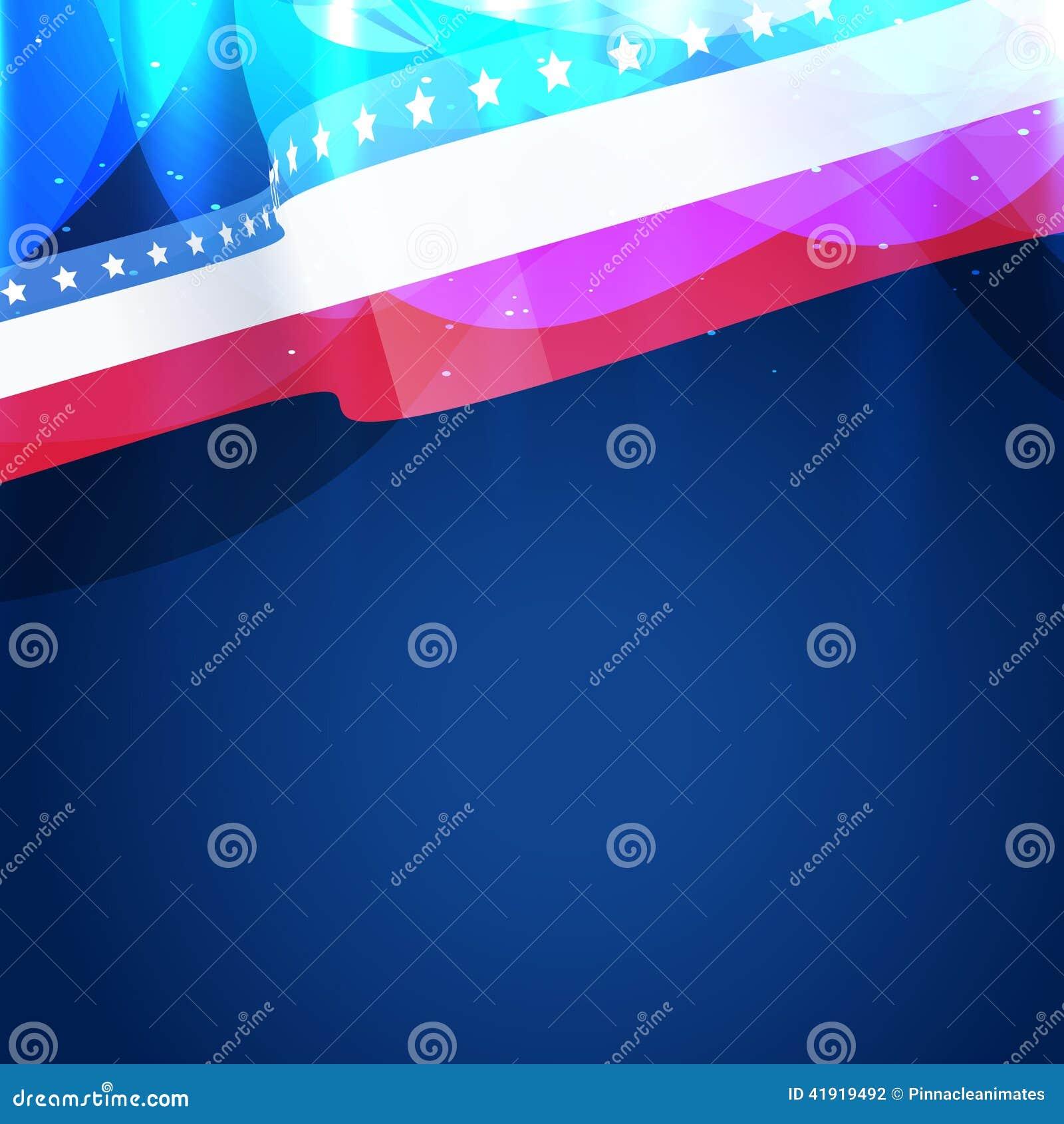 Bandera americana hermosa