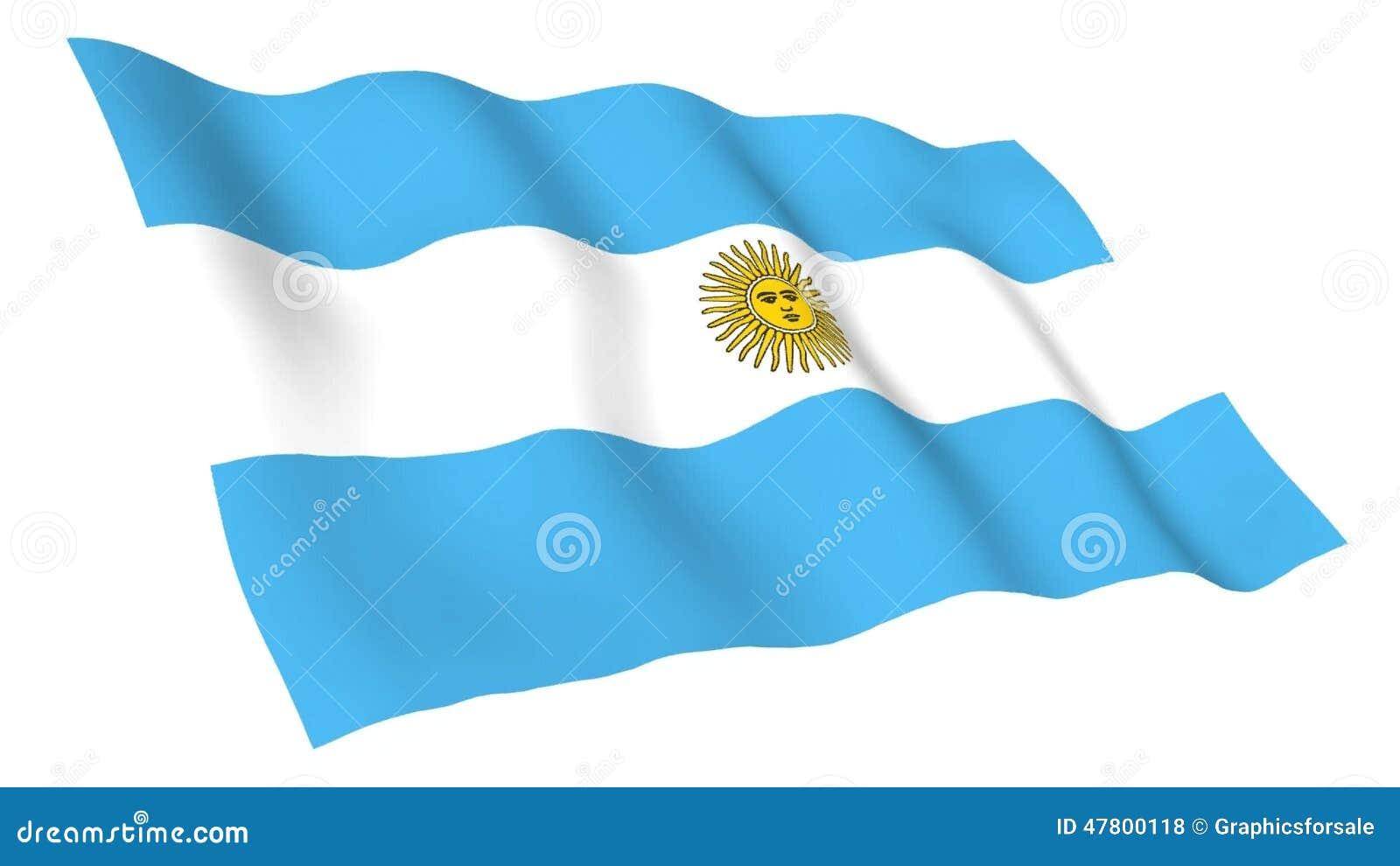 Bandera Animada De Antigua Y De La Argentina Metrajes