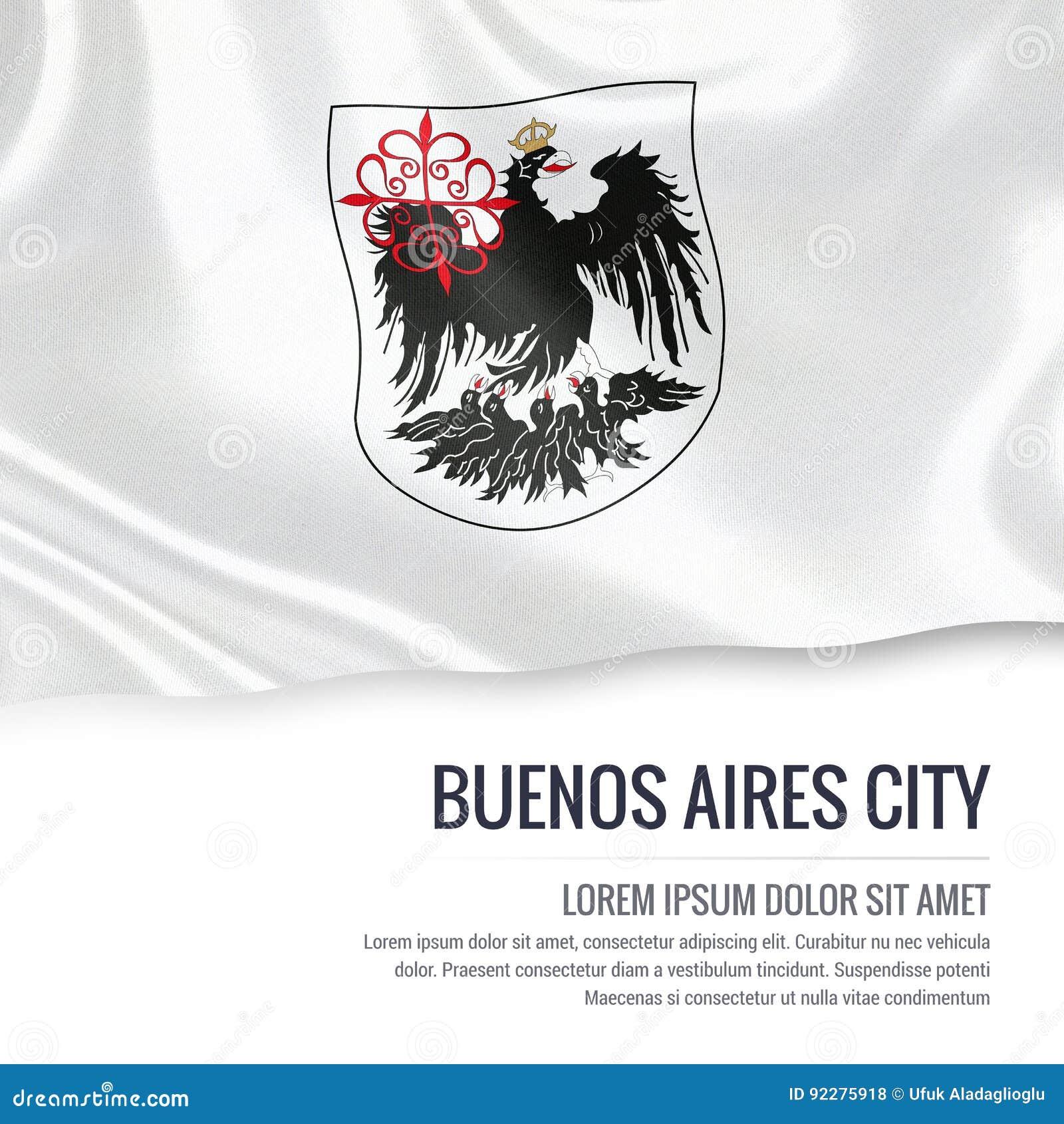 Bandera Argentina De La Ciudad De Buenos Aires Del Estado Stock de ...