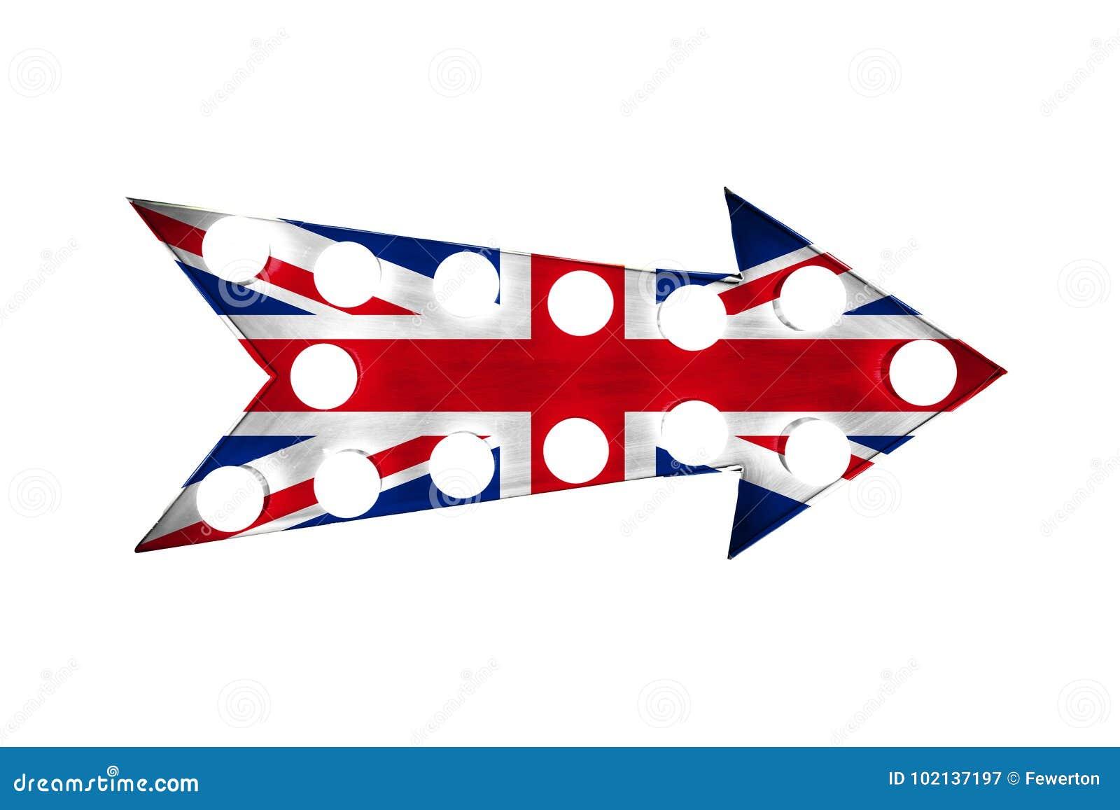 Bandera BRITÁNICA De Reino Unido Pintada Sobre Una Muestra Metálica ...