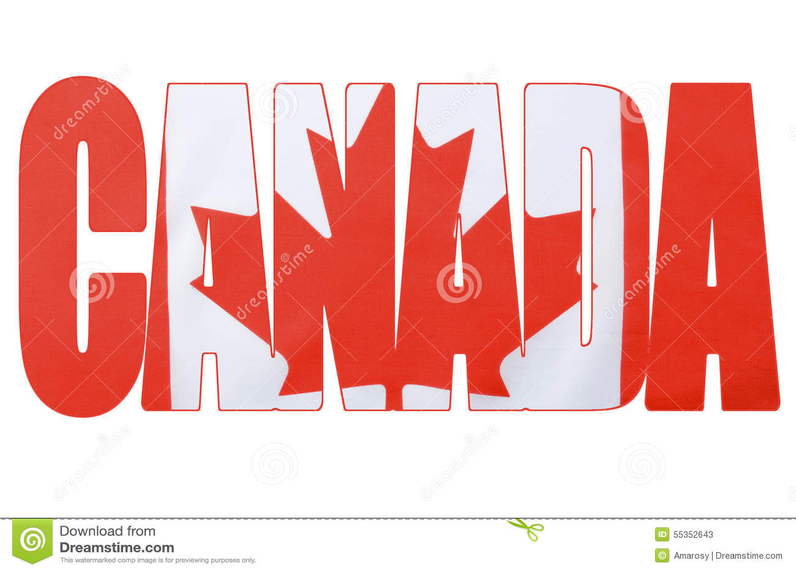 Bandera Canadiense En El Esquema De La Palabra, Canadá Imagen de ...