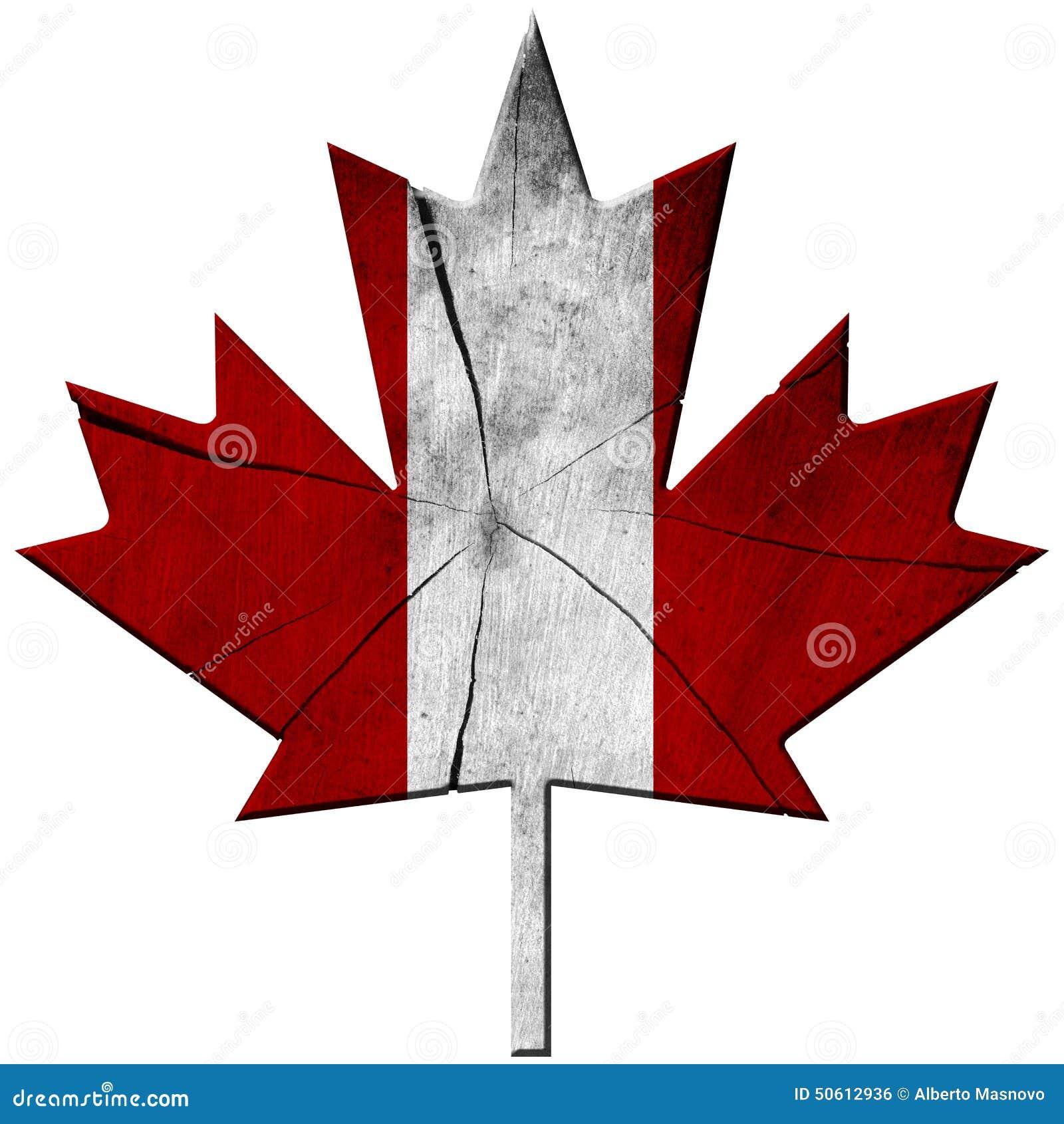 Bandera Canadiense - Hoja De Madera Stock de ilustración ...