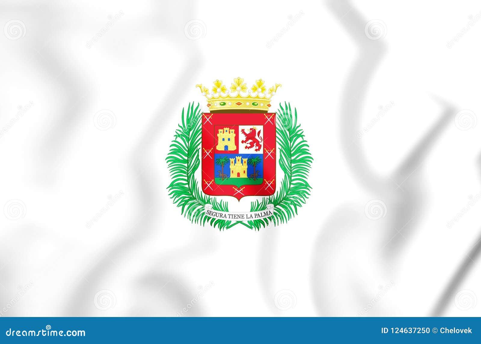 Bandera 3D de Las Palmas de Gran Canaria, España