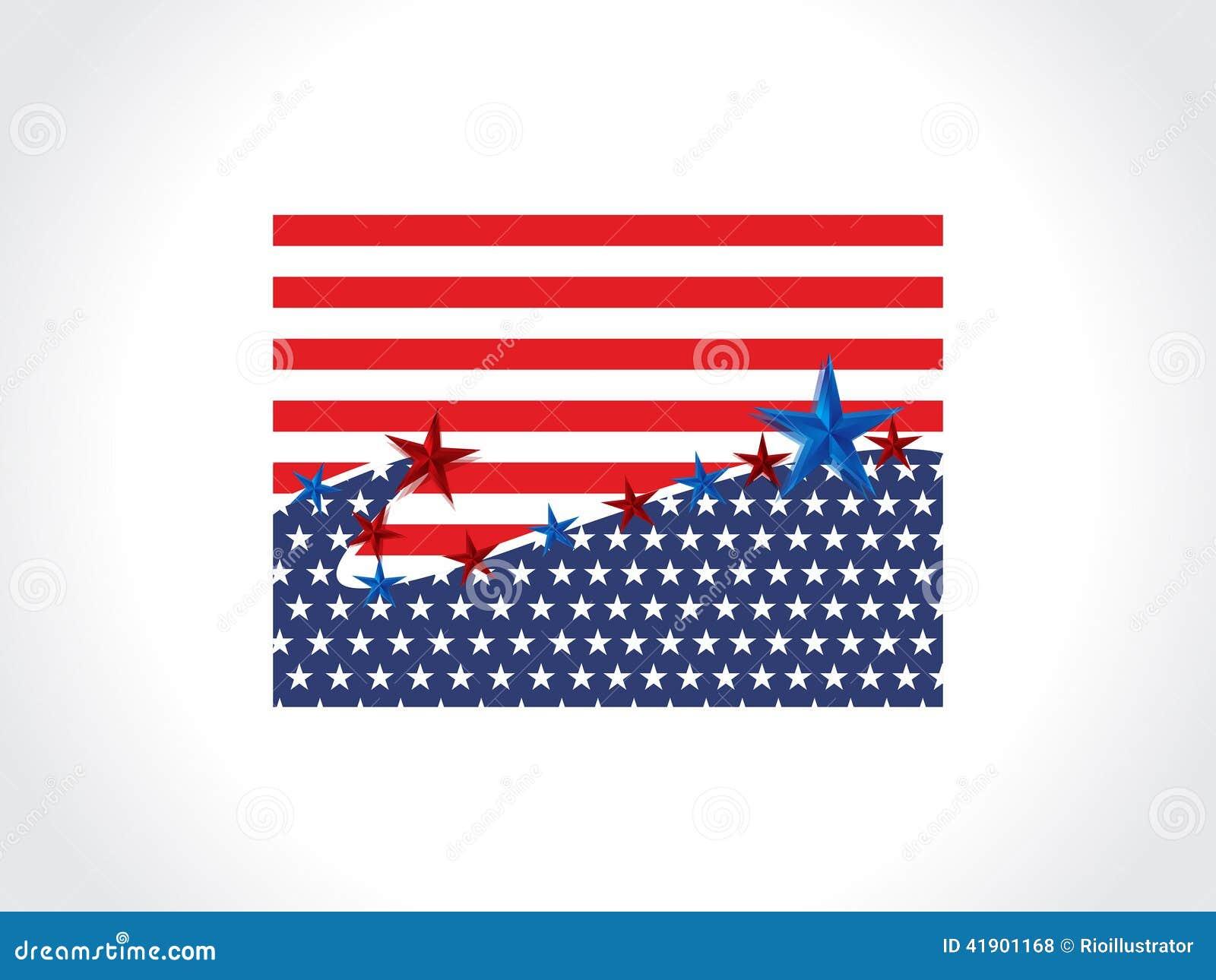 Bandera de América del vector