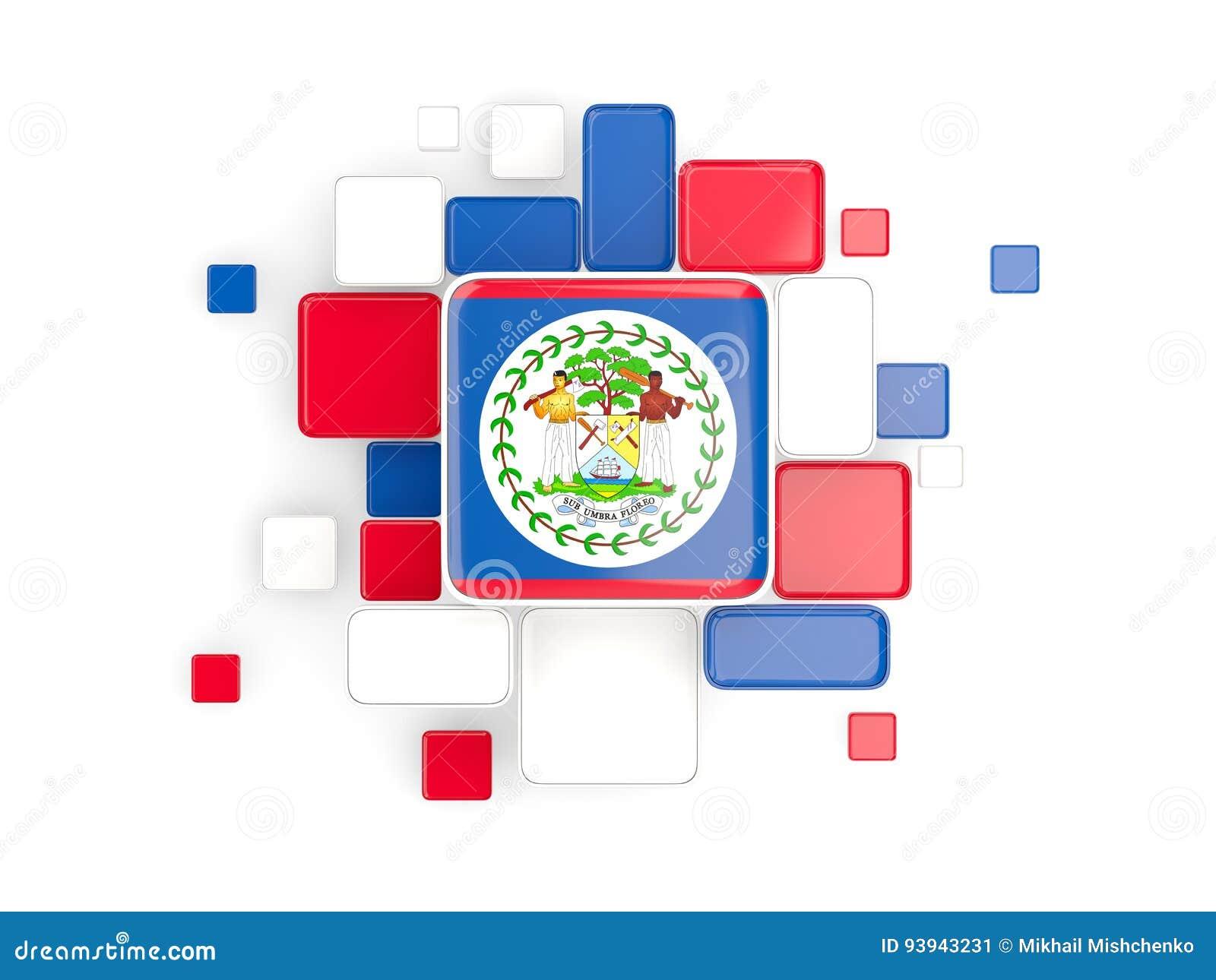 Bandera de Belice, fondo del mosaico