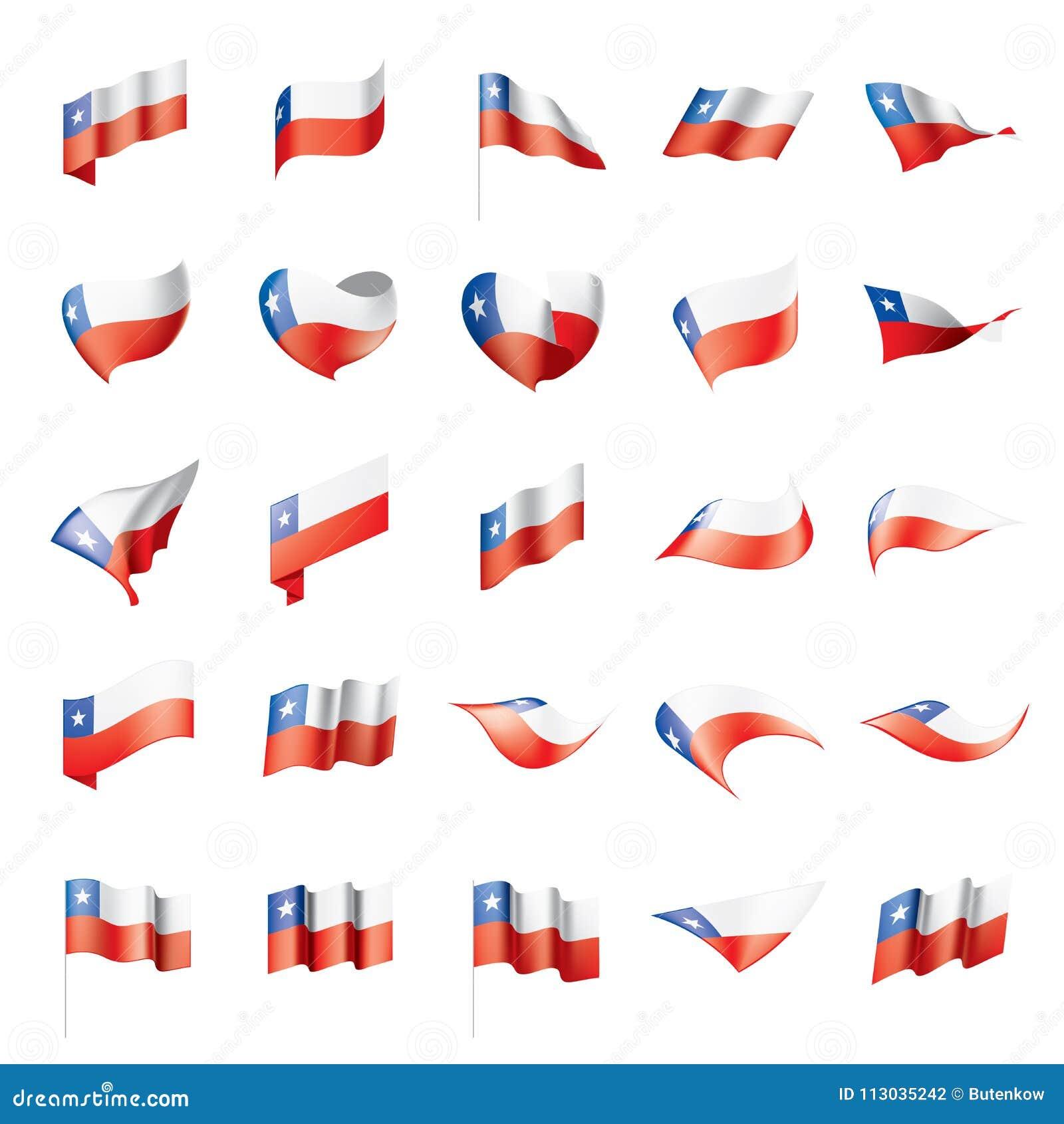 Bandera de Chile, ejemplo del vector