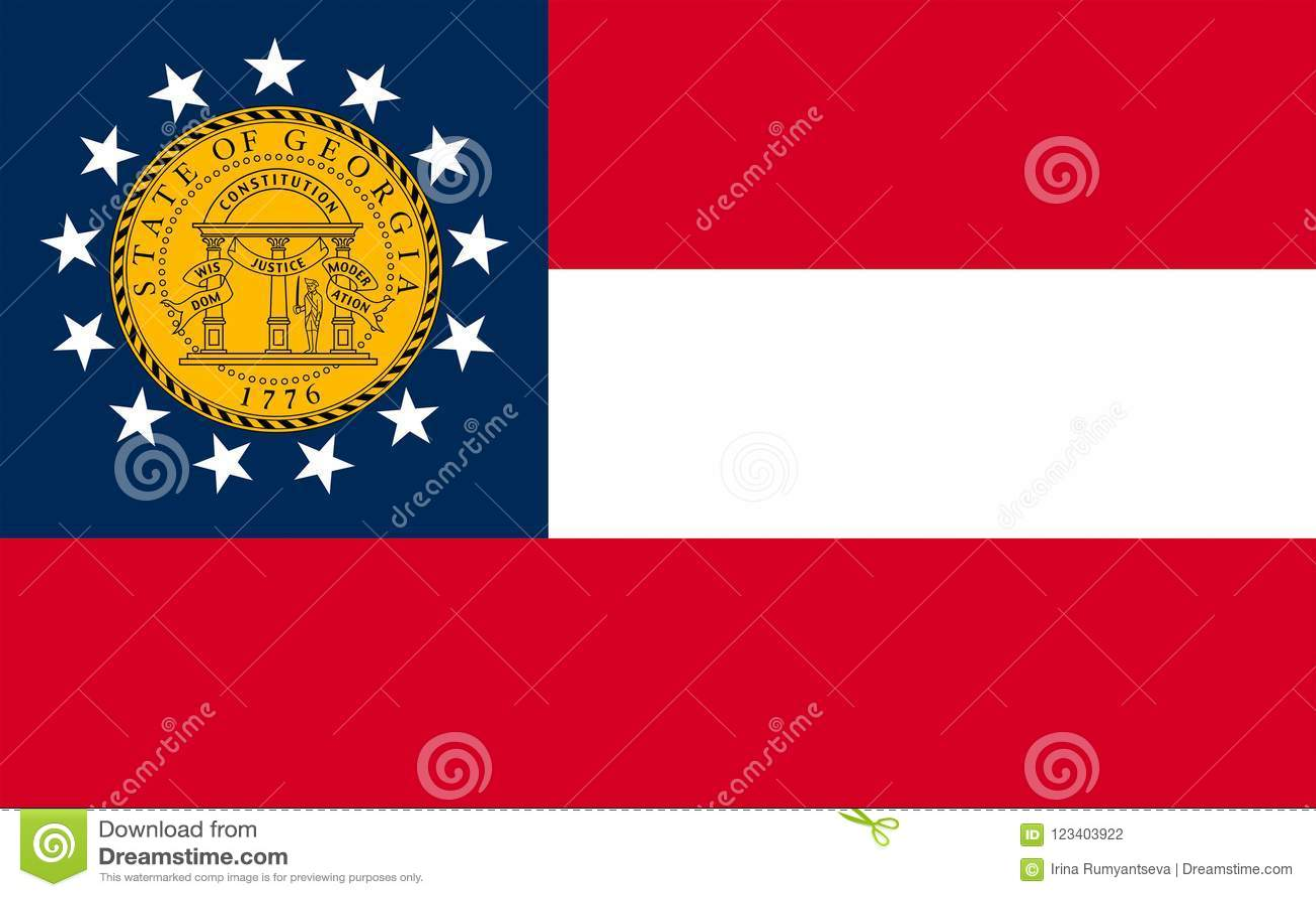 Bandera De Georgia Los E E U U Foto De Archivo Imagen De