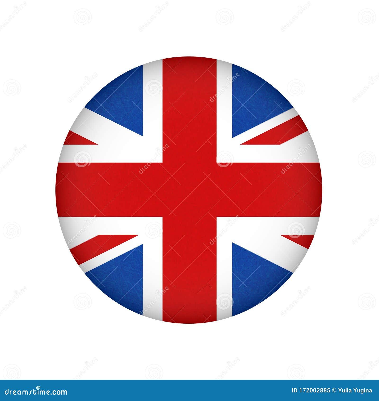 Bandera De Gran Bretaña Reino Unido Banner En Inglés Con Textura Rayada En Forma De Círculo Icono Vectorial De La Bandera De Ing Ilustración Del Vector Ilustración De Sucio Forma 172002885