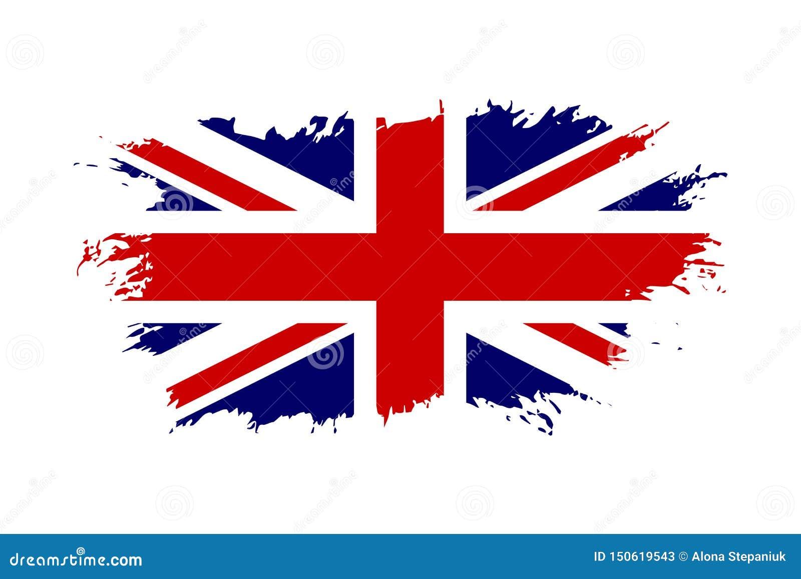 Bandera De Gran Breta A Fondo Blanco Aislado Bandera Británica Del Grunge De Jack Diseño Inglés De Reino Unido Nacional Británico Ilustración Del Vector Ilustración De Indicador Funcionario 150619543