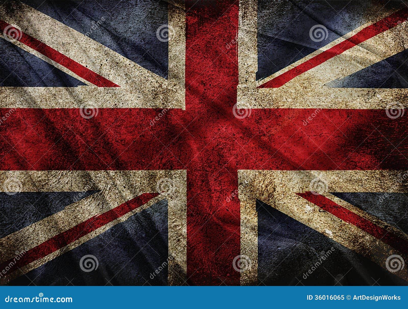 Bandera de Inglaterra stock de ilustración. Ilustración de efecto ...