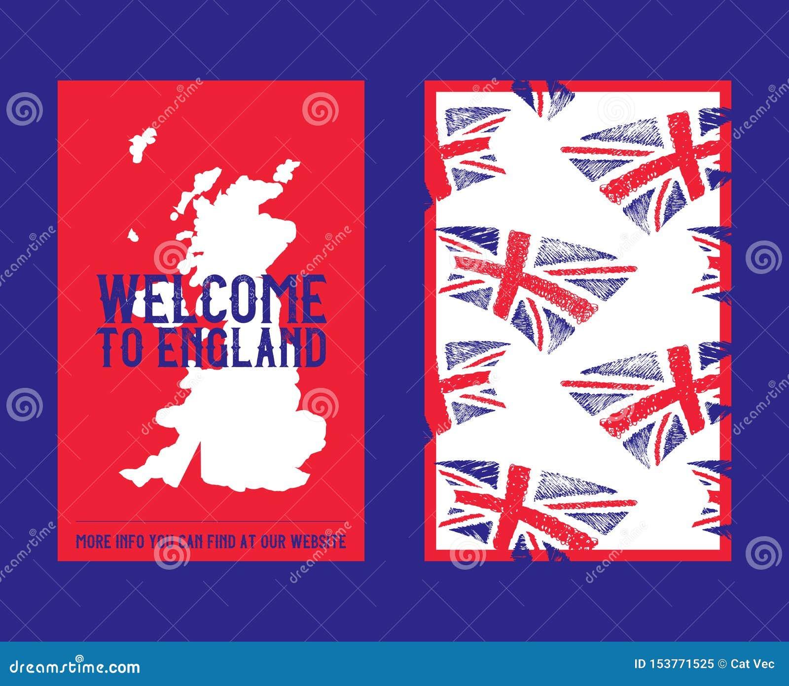 Bandera De Inglaterra Reino Unido Con Pinceladas O Pinturas Y Ilustración De Los Mapas En Inglés Gran Bretaña Ilustración Del Vector Ilustración De Aislado Muestra 153771525
