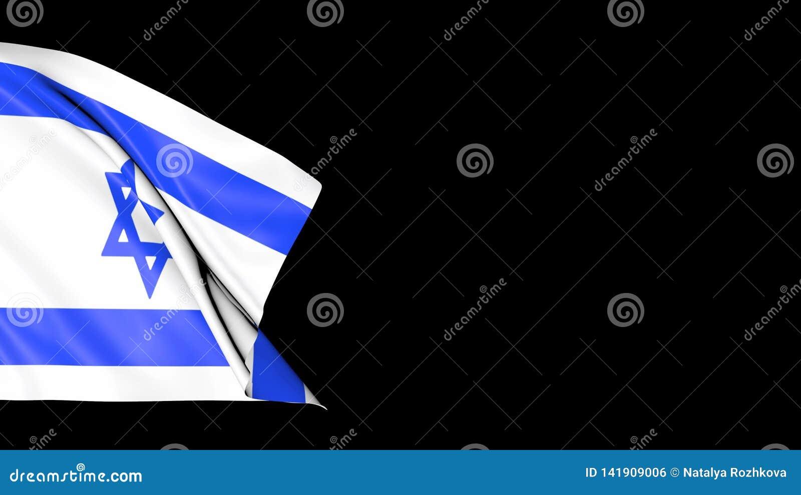 Bandera de Israel en las ondas libre illustration
