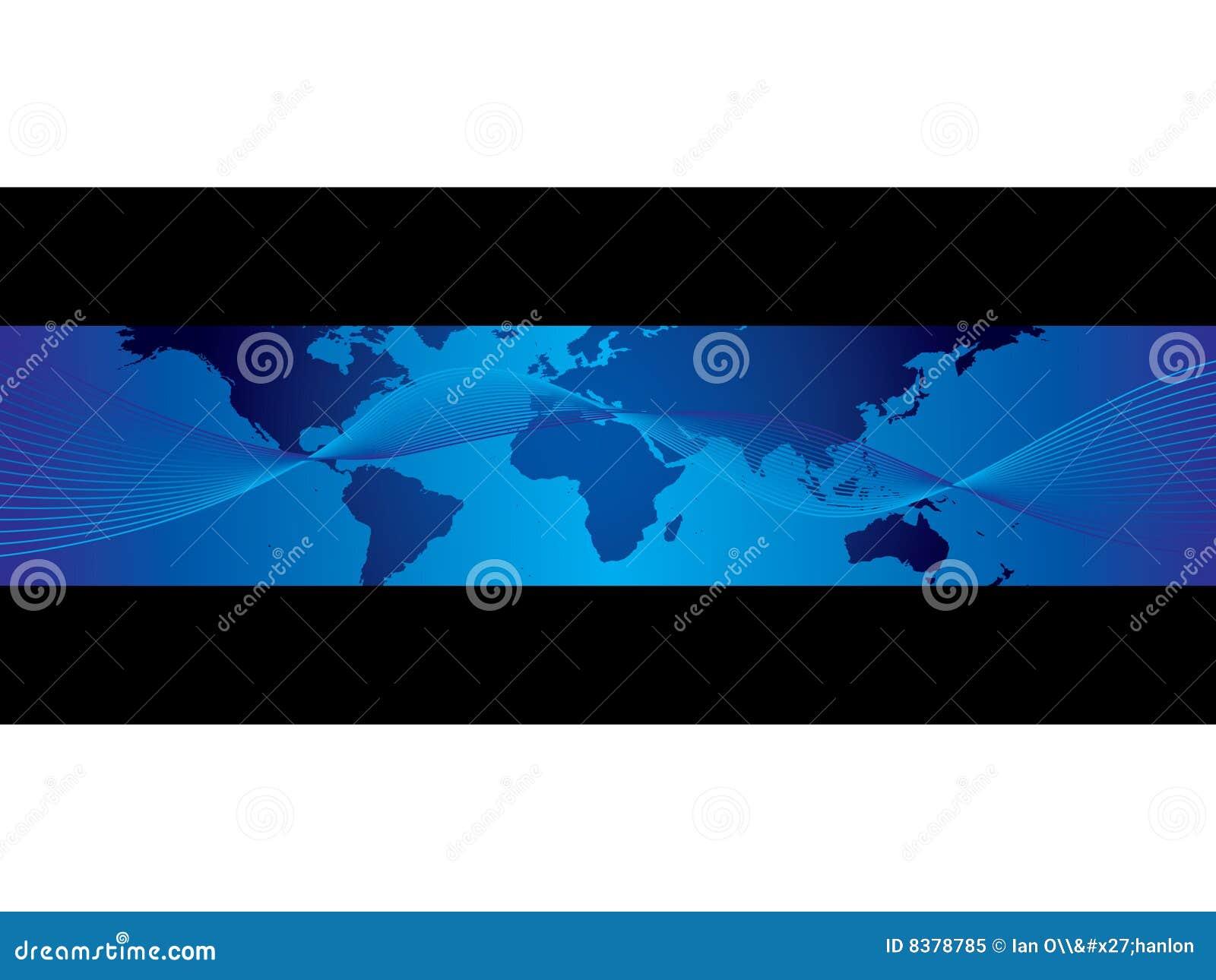 Bandera de la correspondencia del asunto de mundo