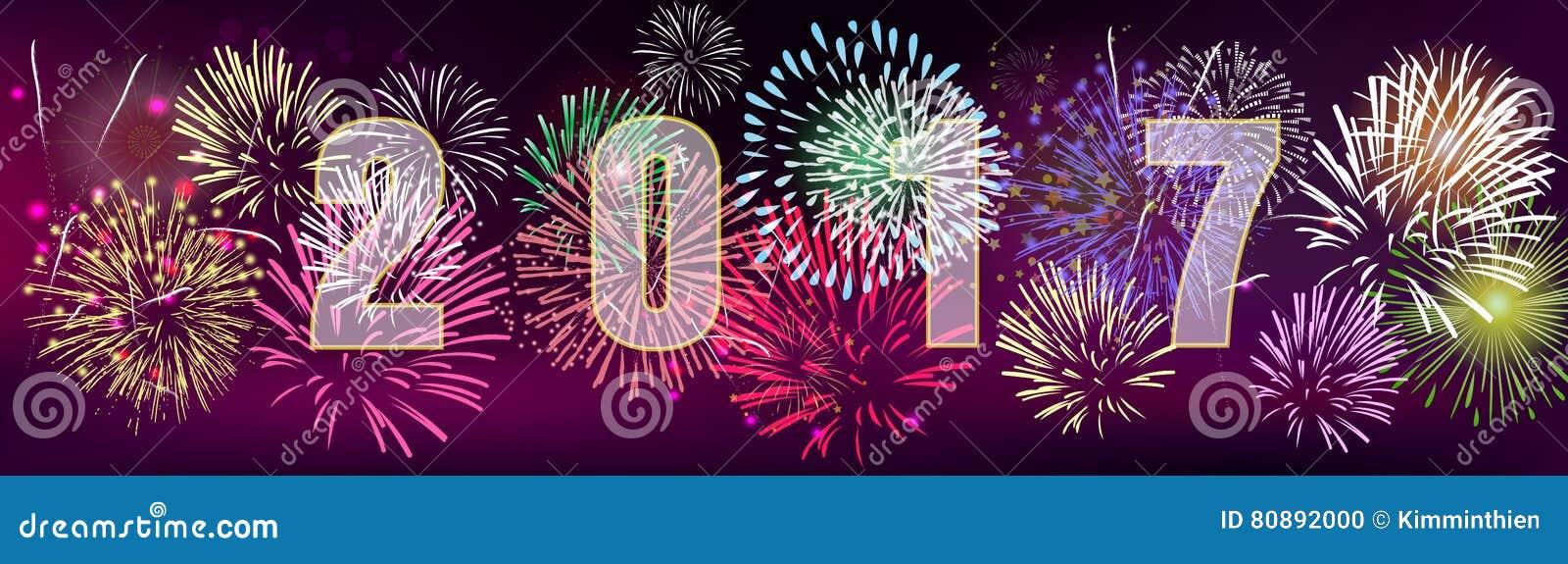 Bandera 2017 de la Feliz Año Nuevo