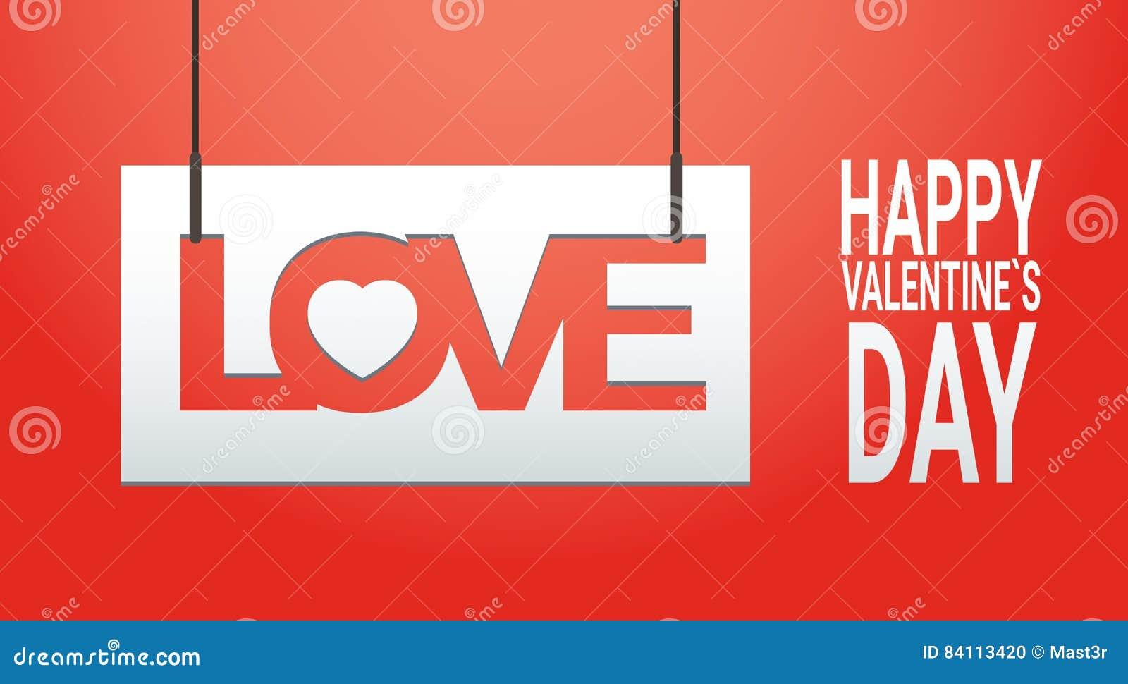 Bandera de la forma del corazón del amor de Valentine Day Gift Card Holiday con el espacio de la copia