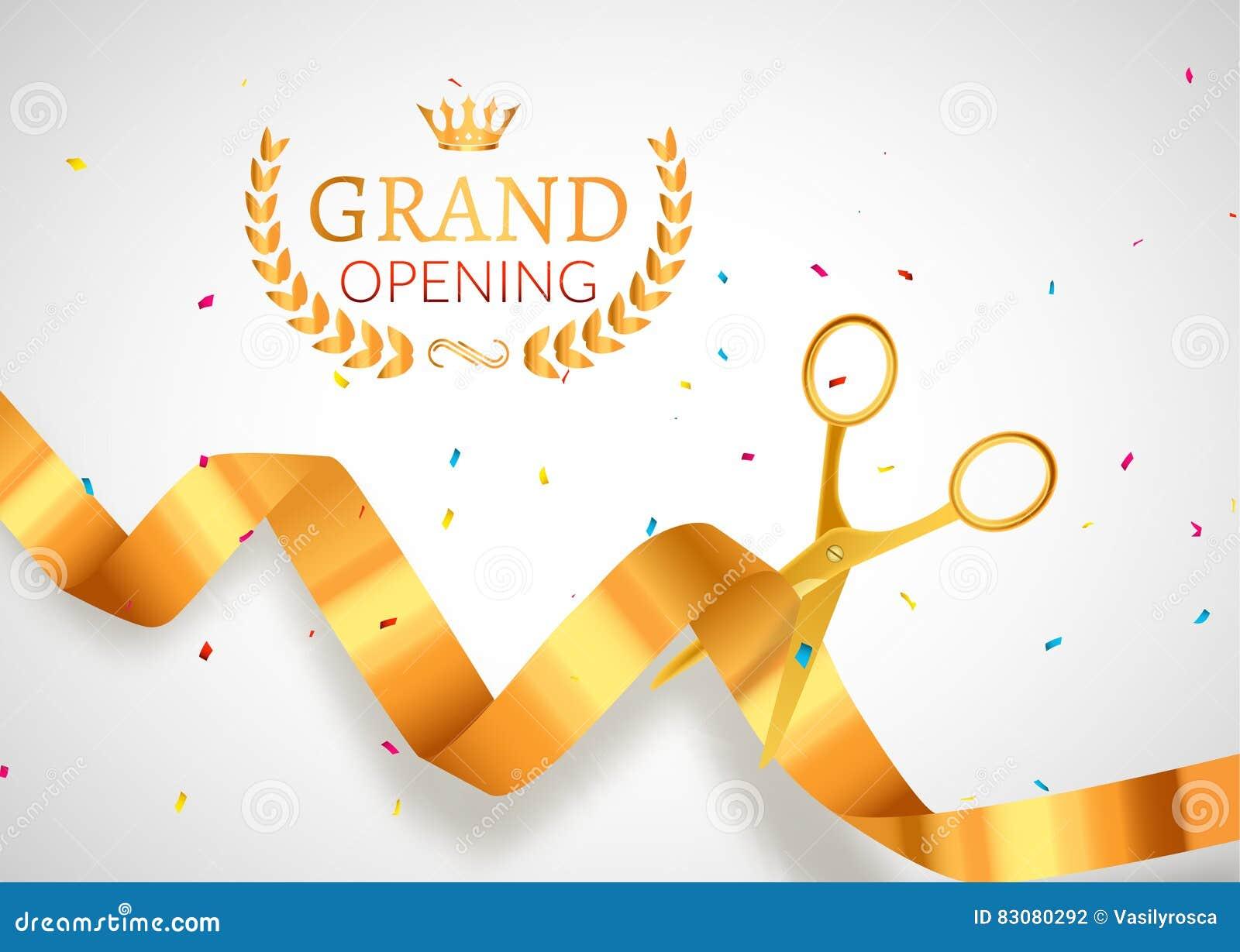 Bandera De La Invitación De La Gran Inauguración Evento De