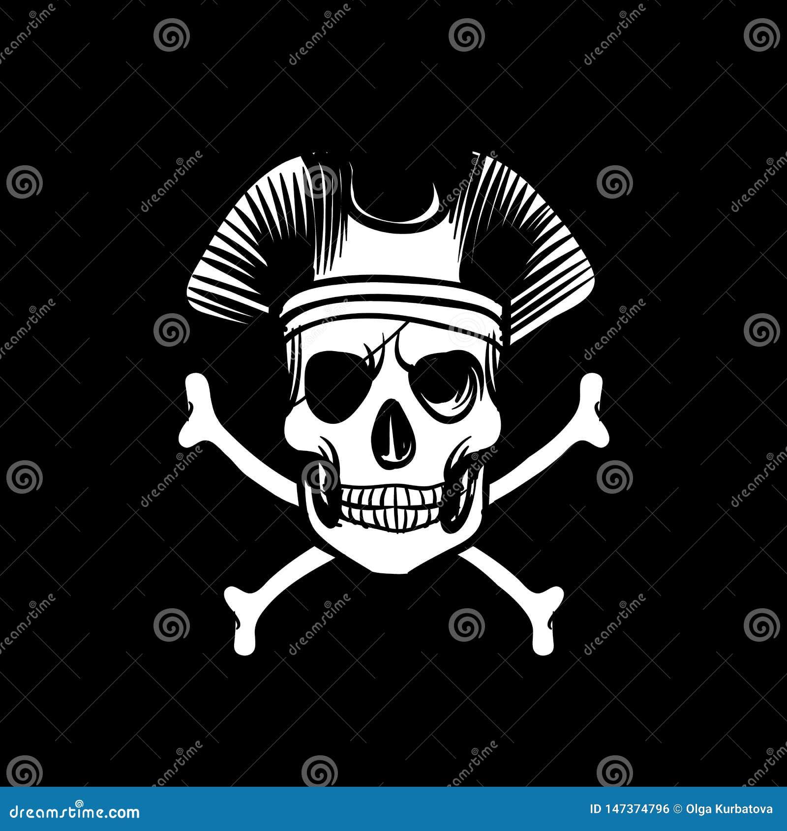 Bandera de la muerte Las islas retras del vintage del papel pintado cantan el fondo náutico del negro del viaje con los huesos y