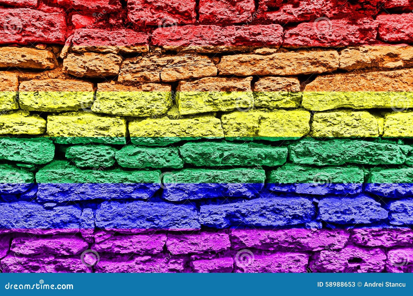 Bandera de la pared del arco iris LGBT