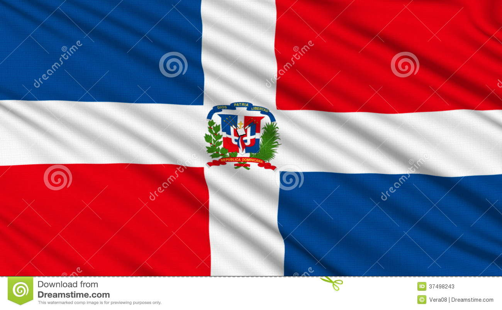 Bandera De La República Dominicana. Almacen De Video - Vídeo de ...