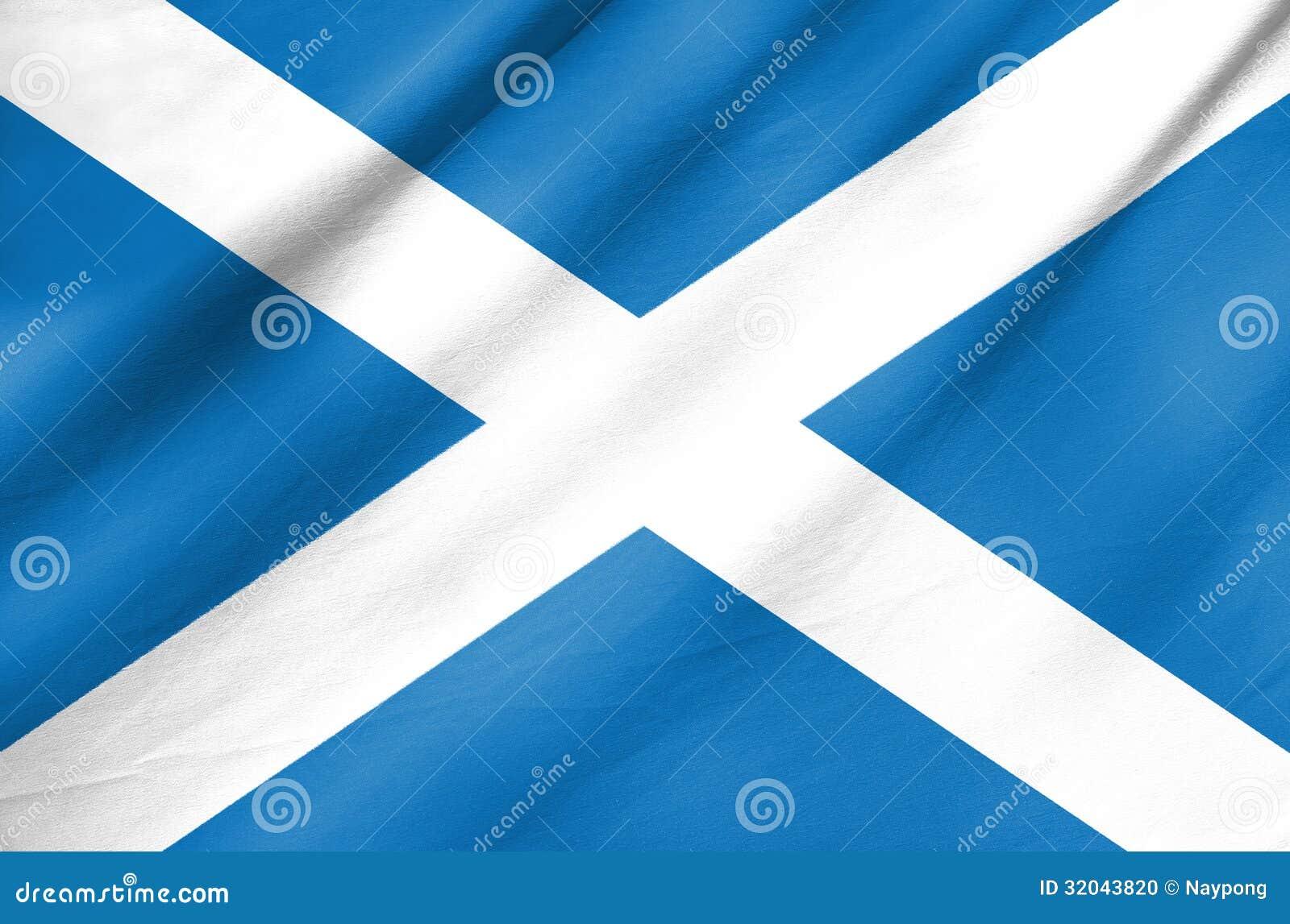 Bandera de la tela de Escocia
