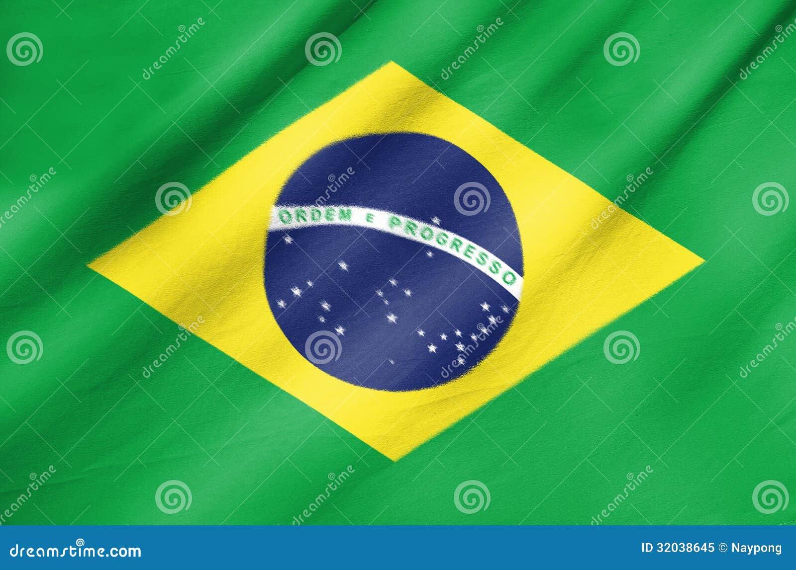 Bandera de la tela del Brasil
