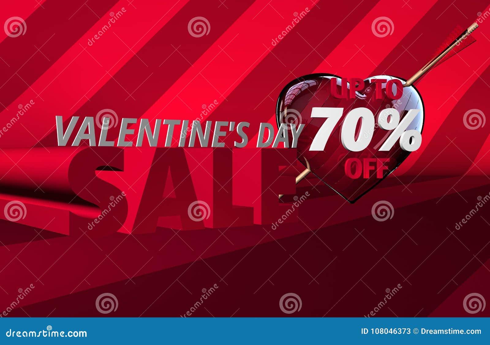 Bandera de la venta del día del ` s de la tarjeta del día de San Valentín
