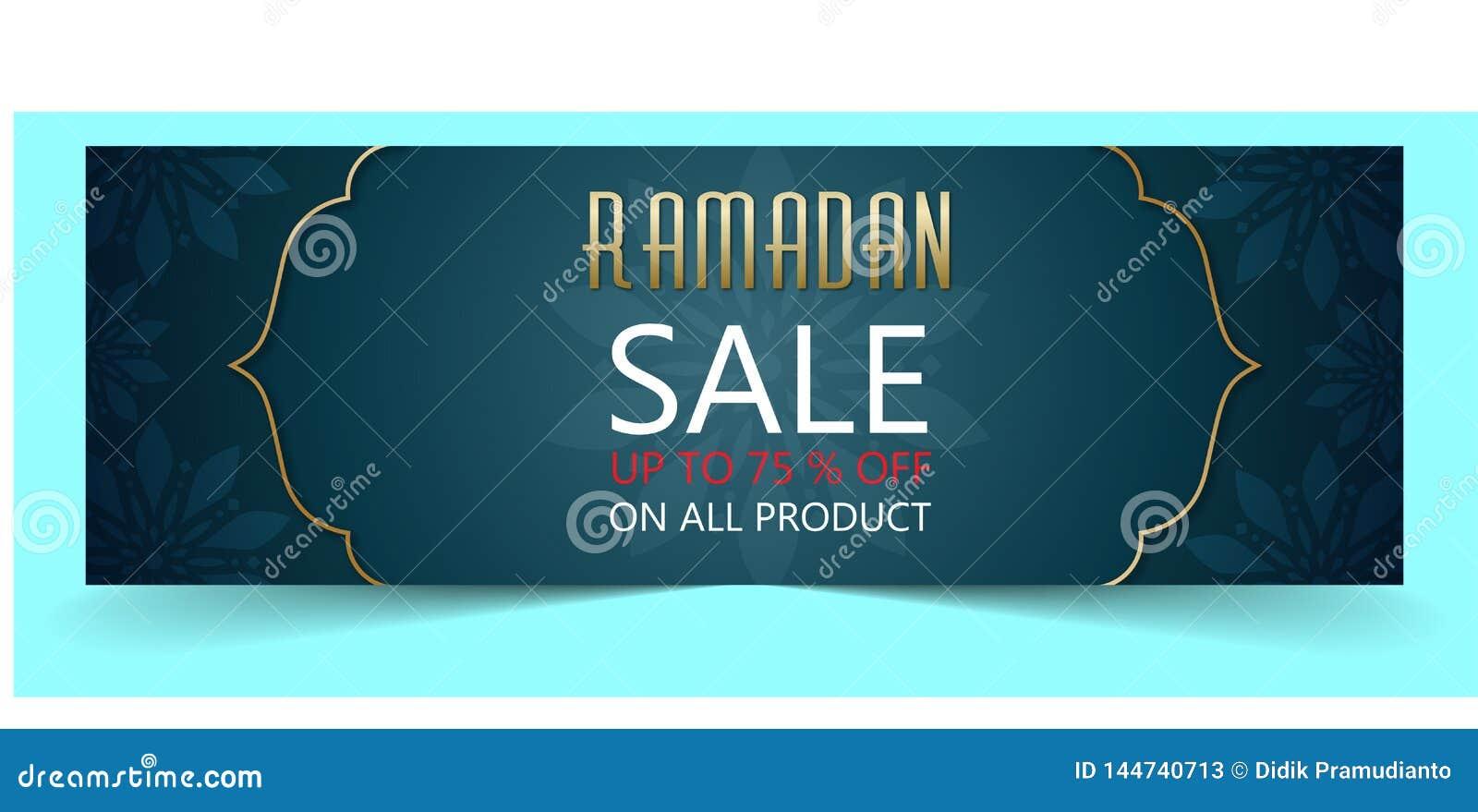 Bandera de la venta del Ramadán