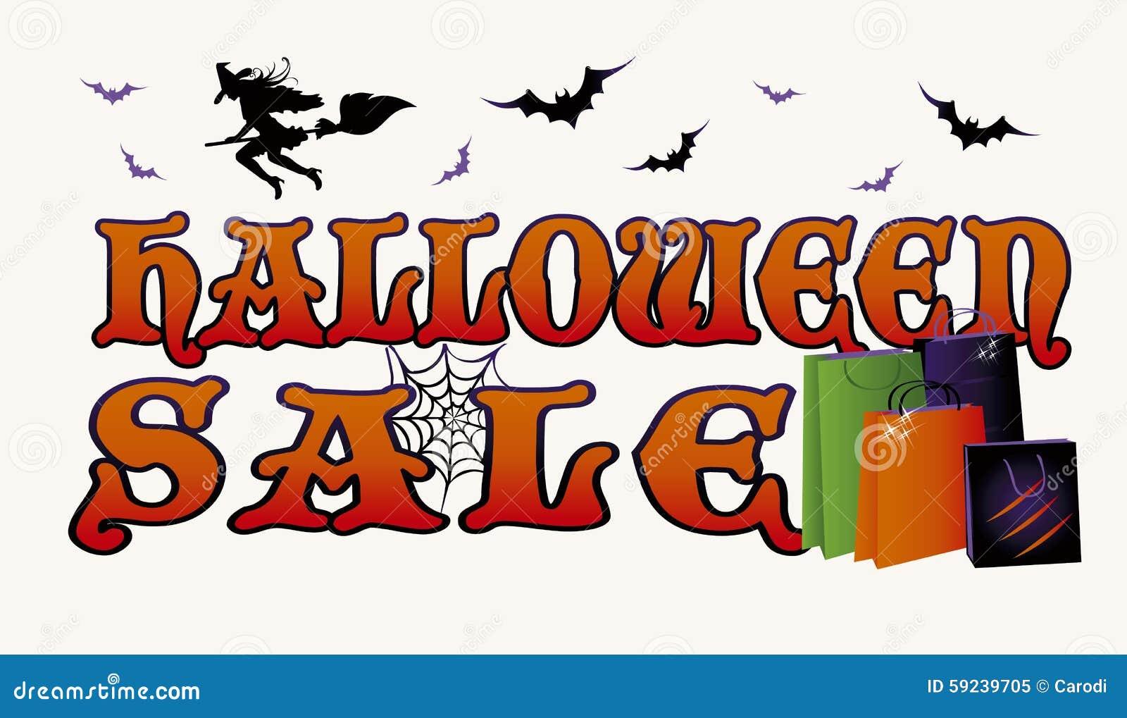 Bandera de las compras de la venta de Halloween
