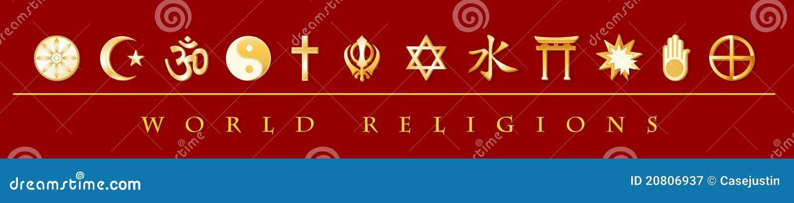 Bandera de las religiones del mundo