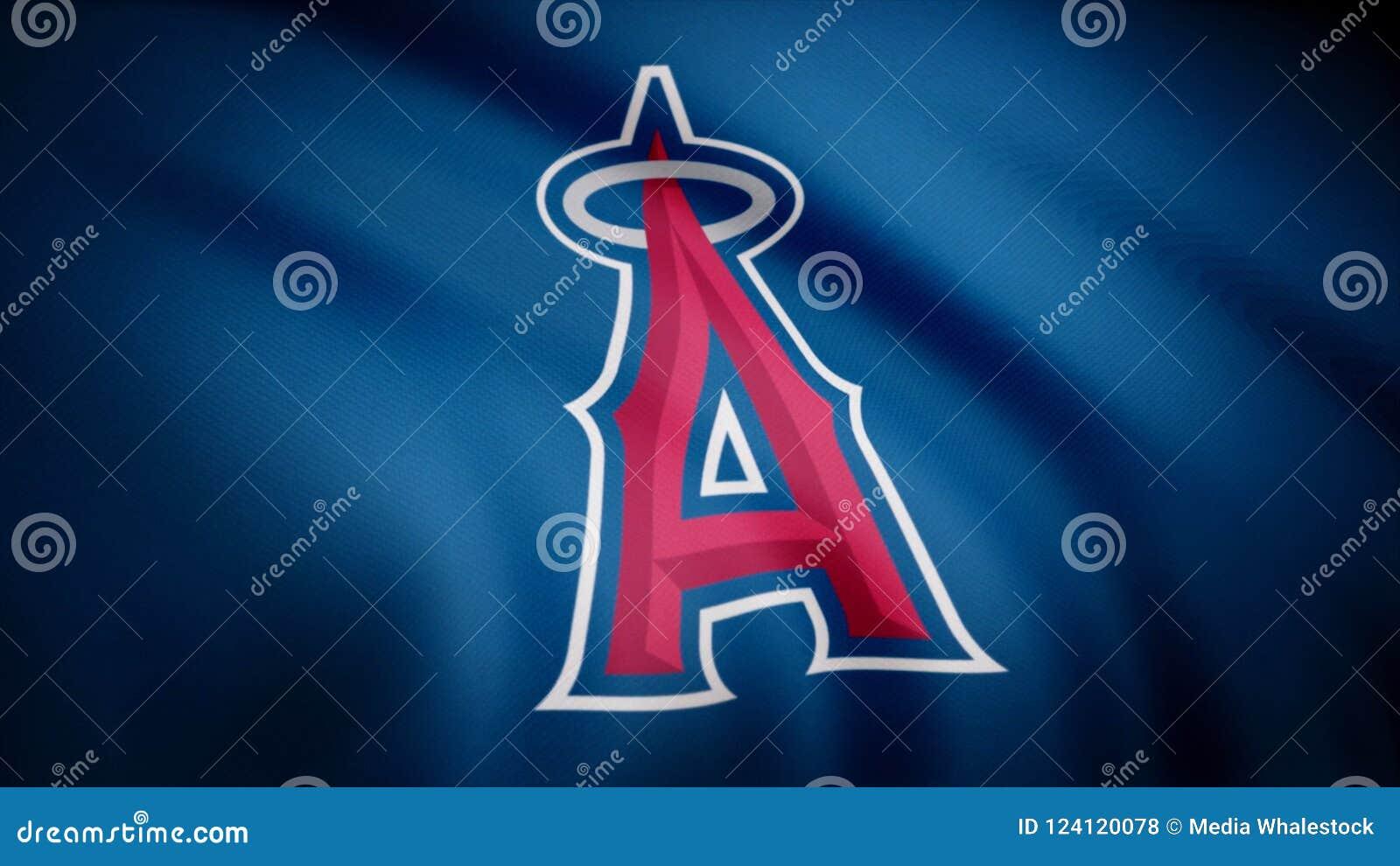 Bandera De Los ángeles De Los Ángeles Del Béisbol De Anaheim ... 78fe6e9dd9e