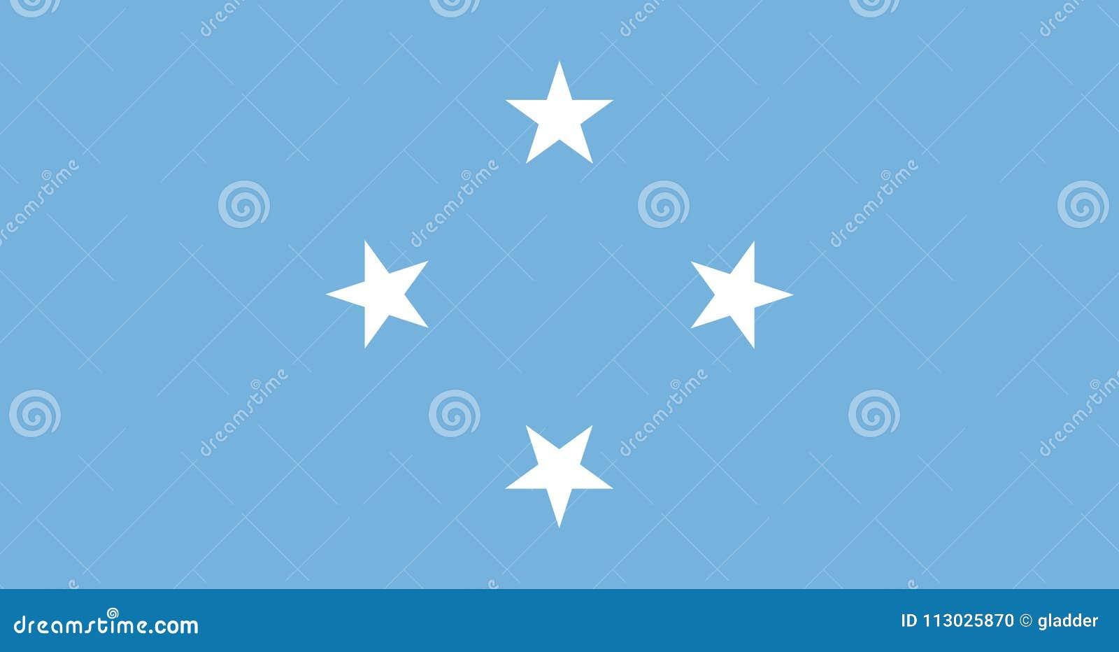 Bandera de los colores y de las proporciones oficiales, imagen de Federated States of Micronesia del vector