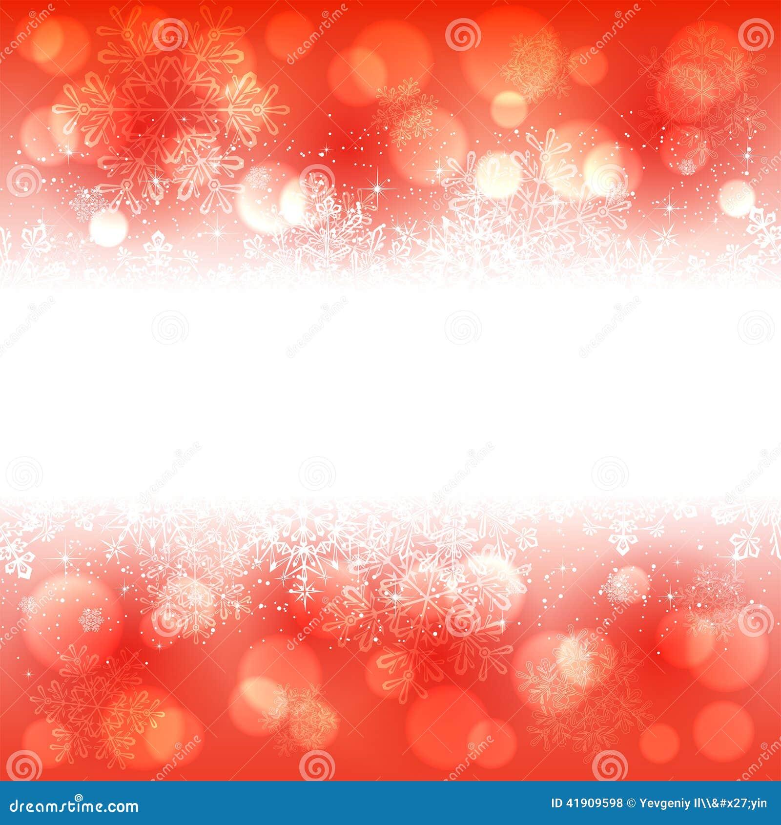 Bandera de los copos de nieve en fondo rojo