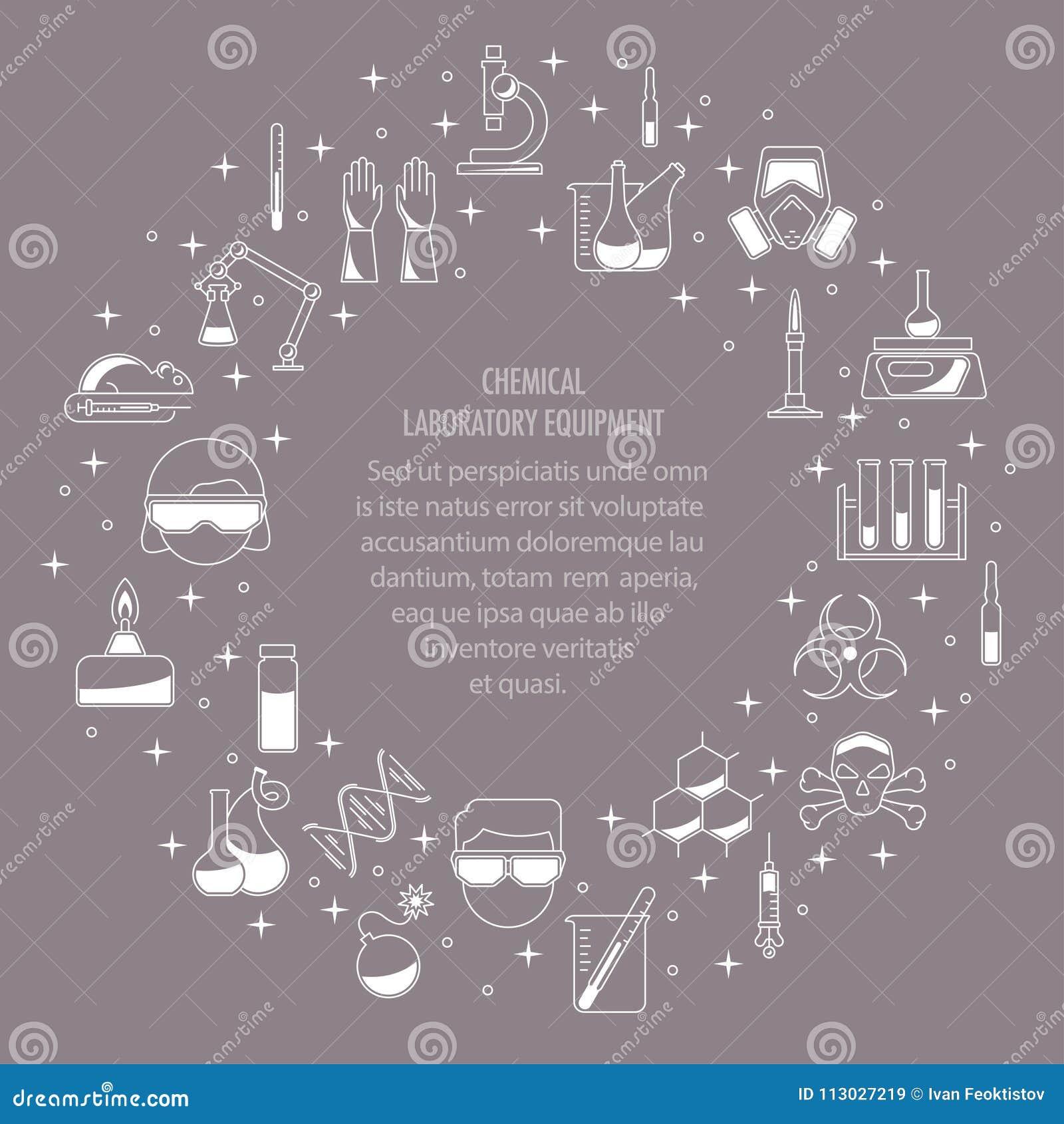 Bandera de los iconos de la química