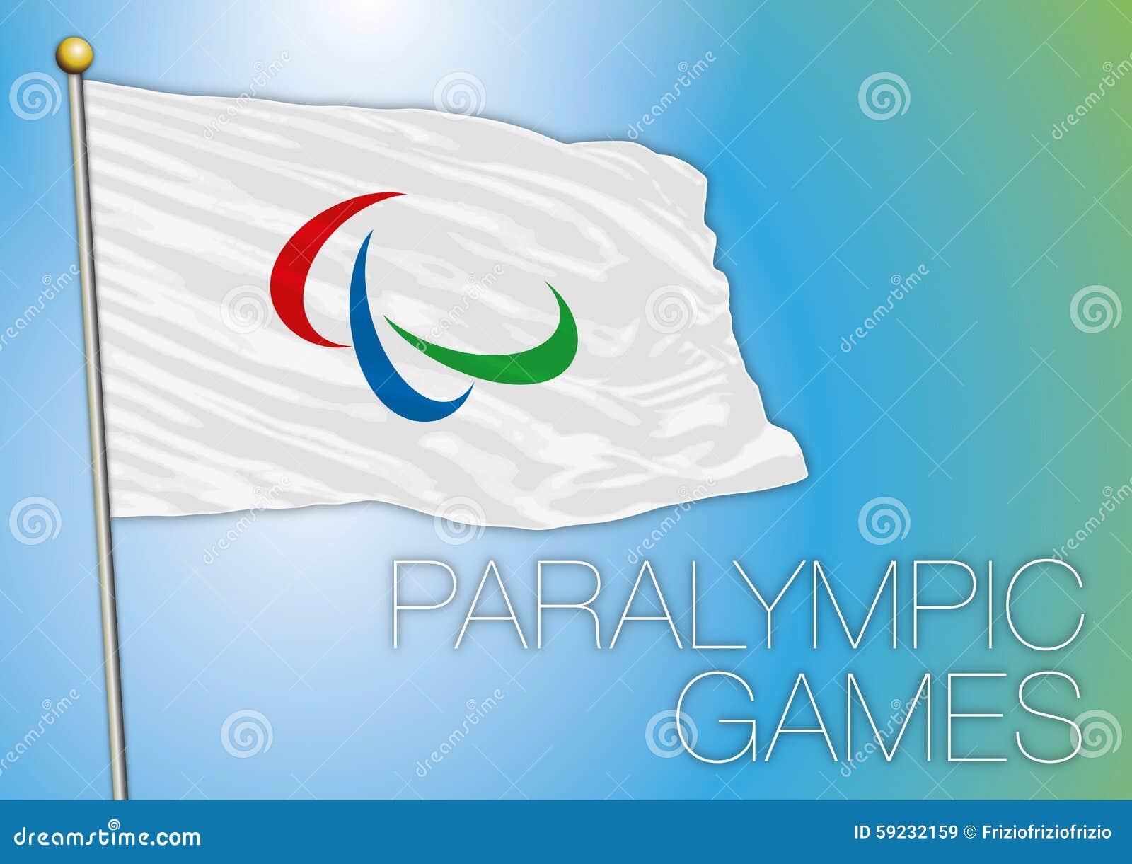 Download Bandera De Los Juegos De Paralympic Imagen de archivo editorial - Ilustración de atletismo, olímpico: 59232159