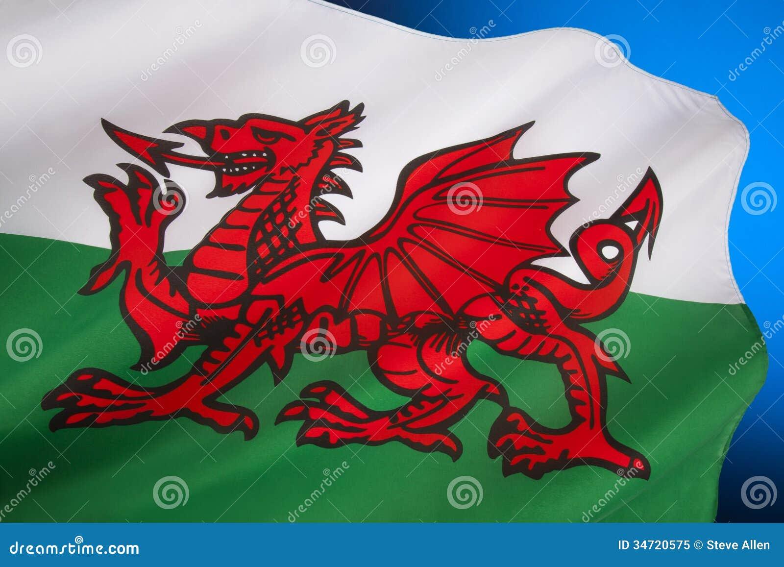 Bandera De País De Gales - Reino Unido Imagen de archivo - Imagen de ...