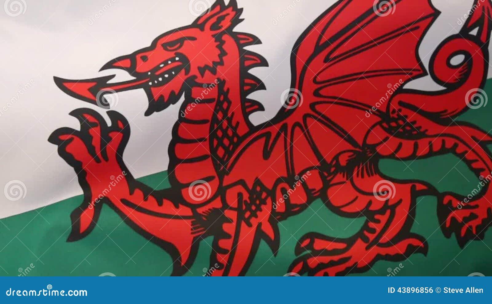 Bandera De País De Gales - Reino Unido Metrajes - Vídeo de galés ...