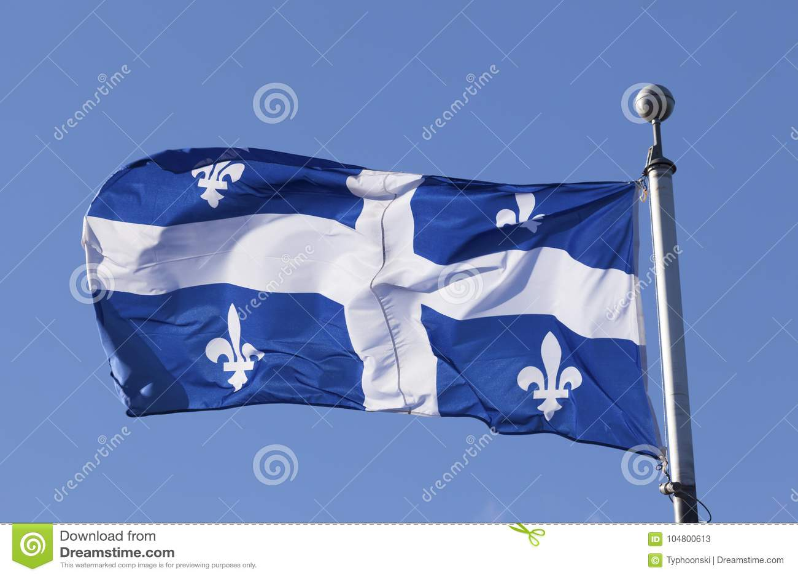 Bandera de Quebec, Canadá