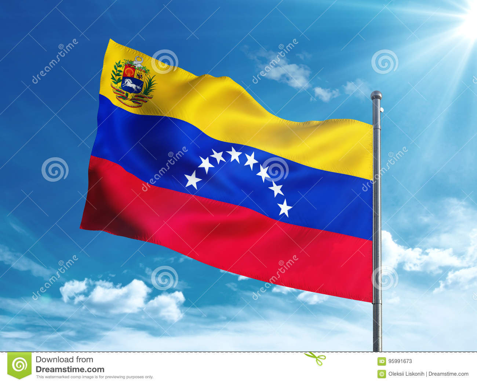 que representa el color azul en la bandera de venezuela