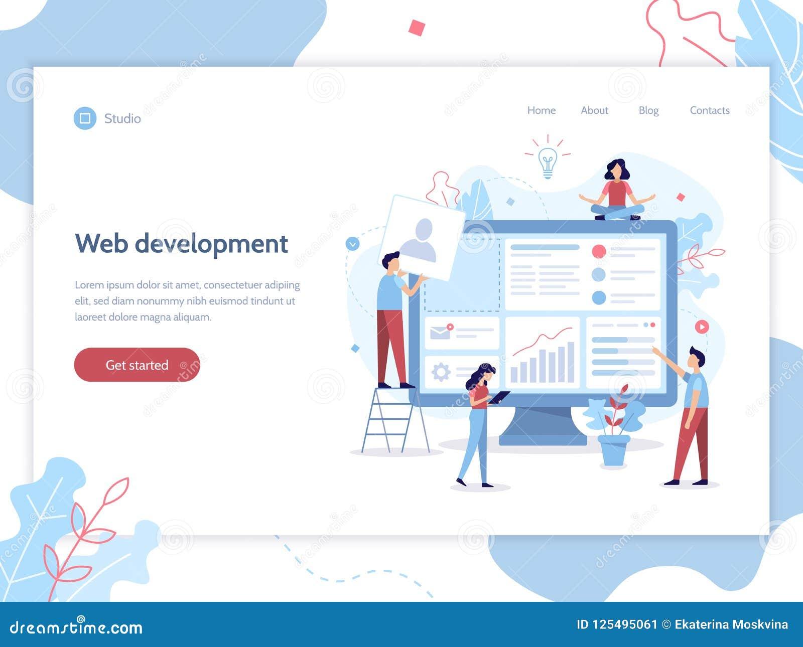 Bandera del desarrollo web