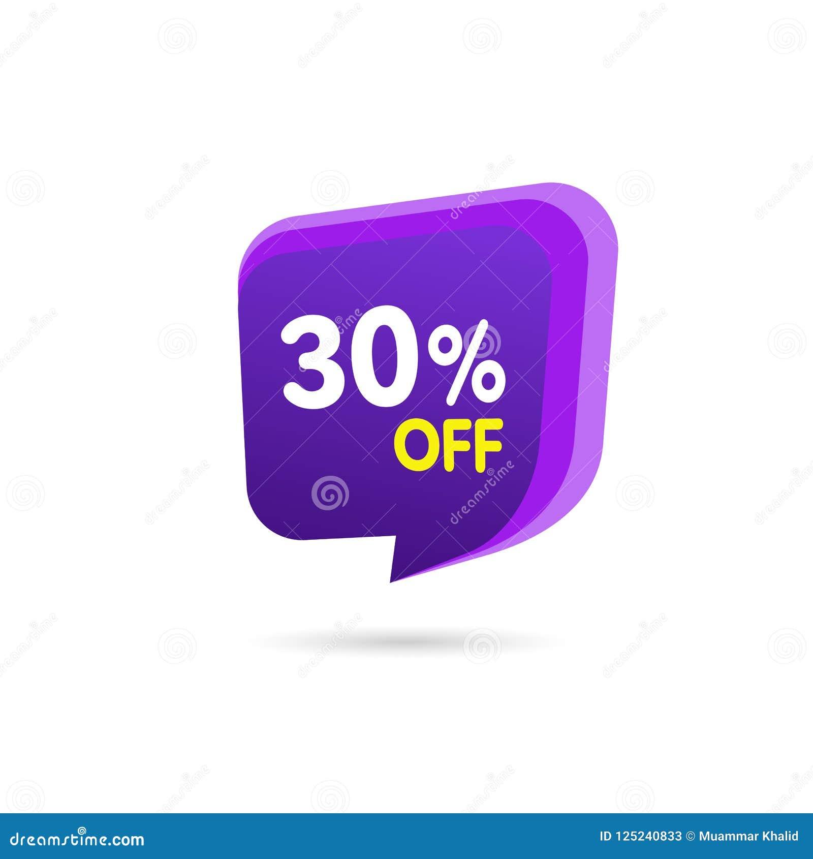 Bandera del descuento de la venta Precio de la oferta del descuento Etiqueta púrpura de la venta de la oferta especial Ejemplo mo