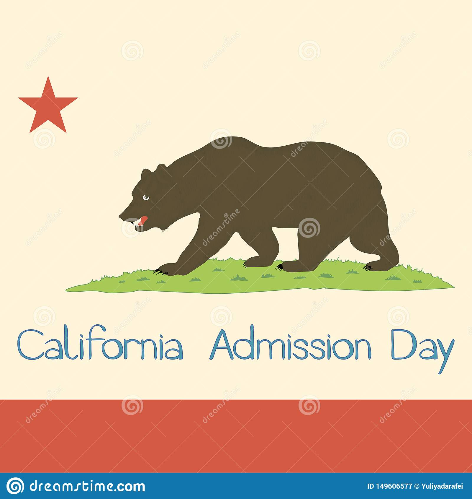 Bandera 1953 del estado de California